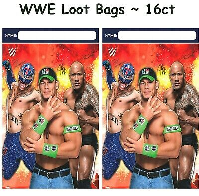 WWE Wrestling Loot Bags (16ct) ~ Boys Championship Birthday Party Favor Supplies • 8.58£