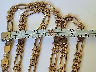 AU825 • Buy Heavy 9ct Yellow Gold Fancy Link Necklace / Chain ~ 19 Grams ~ 48cm Long