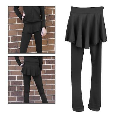 Figure Ice Skating Tights Fleece Pants Children Teen Girls Skate Leggings Black • 29.11£