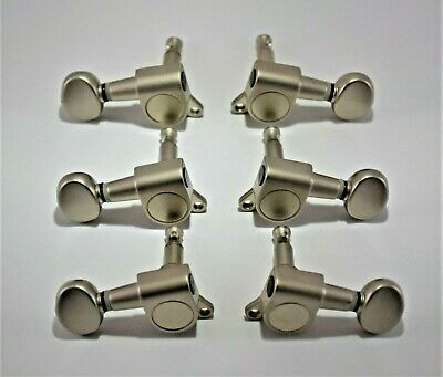$15 • Buy Tuning Machines 3x3 For Acoustic Or Electric Guitar In Satin Nickel