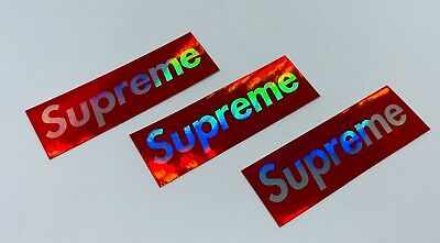 $ CDN15.05 • Buy 3 X Holographic Supreme Stickers - Stick On Anything Water Bottles, Cases 3 X1
