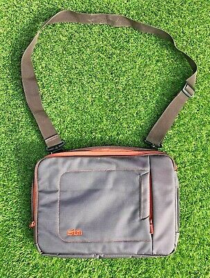 STM IPad/Tablet Protective Chocolate & Tangerine Carrying Case Shoulder Bag New • 14.98£