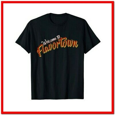 $ CDN24.57 • Buy Welcome To Flavortown T-Shirt Funny Cotton Tee Vintage