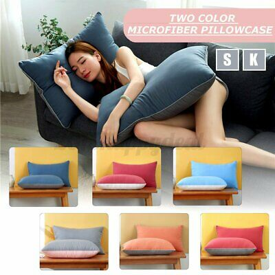 2Pcs Pillow Case Luxury Soft Body Microfiber Pillowcase Bed Cushion Pillow Cover • 7.38£