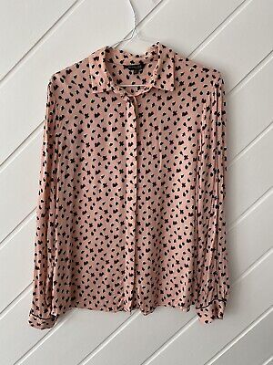 AU30 • Buy Massimo Dutti - Ladies Peach/Floral Blouse - Size 12.
