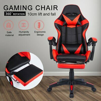 AU109.23 • Buy Gaming Chair Office Executive Computer Chairs Racing Footrest Racer