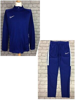 Nike Mens Dri Fit Blue Academy Football Full Zip Training Track Top Pants  • 22.50£