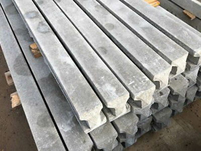 £16 • Buy Concrete Fence Posts - Slotted, Reinforced, Fencing, Gravel Board
