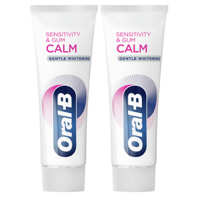 View Details 2 X Oral-B Sensitivity And Gum Calm Gentle Whitening Toothpaste 75ml - Soothing • 9.00£