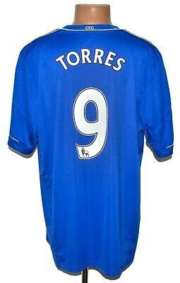 Chelsea London 2012/2013 Home Football Shirt Jersey Adidas #9 Torres Size Xxl • 44.99£