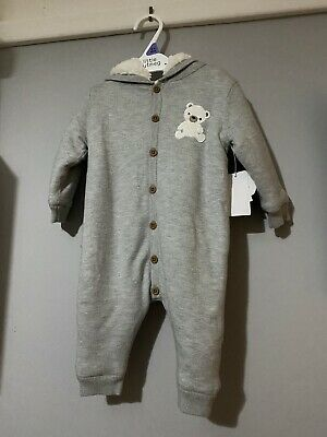Baby All In One Fleece Suit 3-6 Months • 0.99£