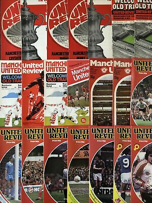 Collection Of Manchester United Football Programmes • 3£