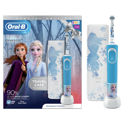 AU75.09 • Buy Oral-B Frozen II Vitality Electric Toothbrush - Gentle - Travel Case -3 Years