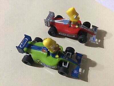 Micro Scalextric Simpsons F1 Cars • 20£