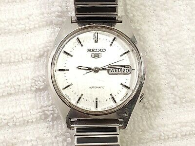 $ CDN34.31 • Buy Vintage Seiko 5 Automatic Day Date Watch Silver Dial Luminous Hands 17 Jewels
