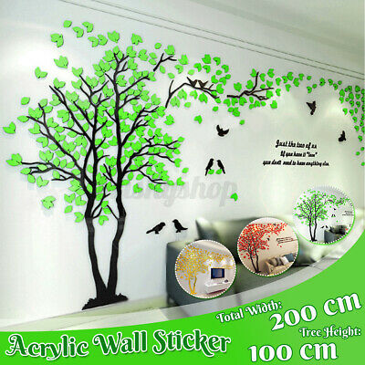 3D Tree Arcylic Wall Sticker Large Bedroom Decal Mural DIY Home Room Decor UK / • 10.15£