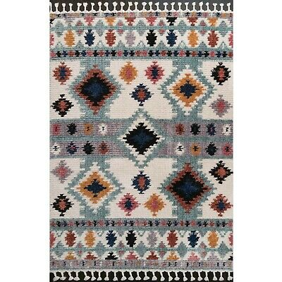£79.95 • Buy Colourful Moroccan Rugs For Living Room Thick Low Pile Shaggy Rug With Tassels