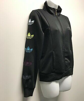 AU29 • Buy Womens Adidas Tracksuit Jacket With Sleeve Detail / Polyester / Small
