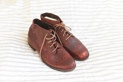 Joseph Seibel Burgundy Red Leather Boots Size 38 • 3.10£