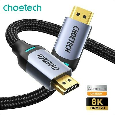 AU24.95 • Buy Choetech 8K HDMI 2.1 Cable HDR 48 Gbps 60Hz 2M Ultra HD High Speed For PC PS5