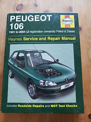 Haynes Service And Repair Manual Peugeot 106  1991 To 2004 • 3£