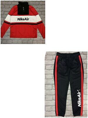 Nike Air Boys Poly Nsw Red Black White Track Top / Track Pants *sold Separately* • 22.50£