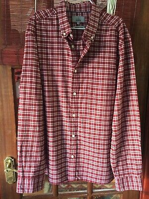"""M&S """"Collection"""" Tailored Fit Laundered Oxford Crimson Shirt Size XL • 0.99£"""