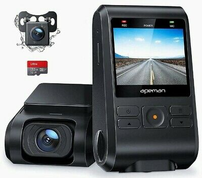 AU91.54 • Buy Dash Cam, Front And Rear Camera For Cars 1080P, SD Card Included, Support...