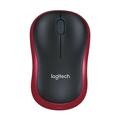 AU19.95 • Buy Logitech M185 Red Wireless Optical Mouse With Nano USB Receiver For Laptop PC