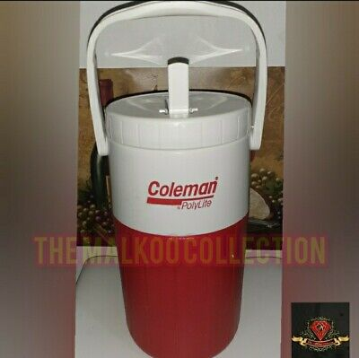 $14.99 • Buy 💥💥vintage Coleman Red And White 1/2 Gallon Water Jug With Handle Thermos