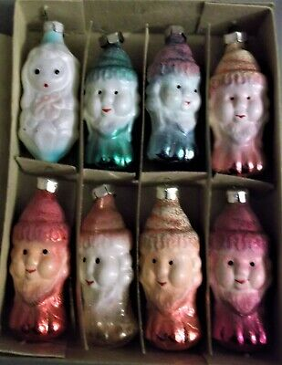 $ CDN36 • Buy Vintage Christmas Decorations Baubles Snow White And The 7 Dwarfs - Nib Russian