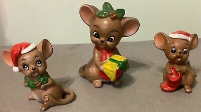 $ CDN39 • Buy Vintage Josef Originals Christmas Mice Mouse Family Ornaments