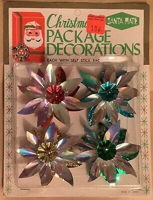 $ CDN25 • Buy Vintage Christmas Package Decorations  Iridescent  Unopened
