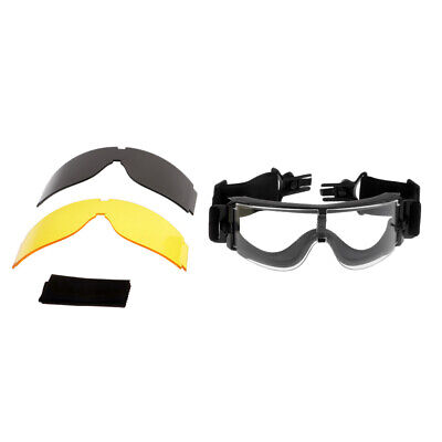 X800 Goggles Sunglasses Hunting Shooting For Helmet With Side Rails • 15.04£