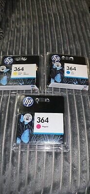 Genuine HP 364 Ink Cartridges, Magenta, Yellow And Cyan • 6.50£