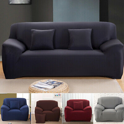AU13.99 • Buy 1 2 3 4 Seater Stretch Sofa Cover Fitted Couch Lounge Slipcover Protector Covers