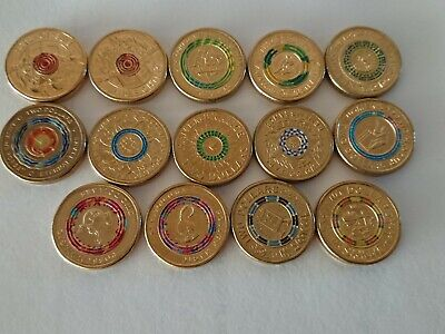 AU42 • Buy X 14 Assorted Coloured $2 Australia Commerative Two Dollar Coins -Circulated