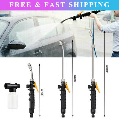 For Car High Pressure Power Washer Spray Water Gun With Nozzle Hose Tips Garden • 10.49£