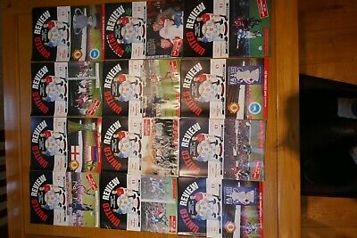MANCHESTER UNITED HOME PROGRAMMES 1992-1993 Season As Listed   • 9£