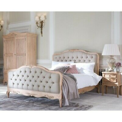 £1299.38 • Buy Avignon Beige Upholstered French Mindy Wood Bed