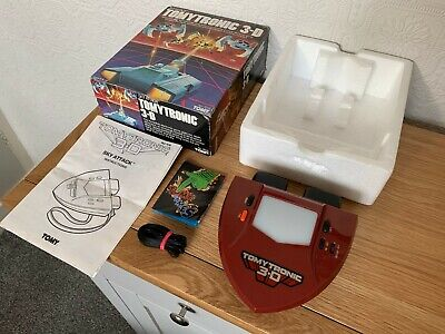 Boxed Tomytronic 3D Sky Attack Vintage 1983 Handheld Electronic Game - Near Mint • 180£