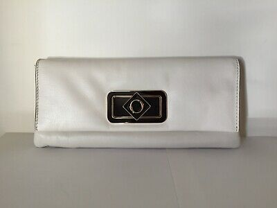 AU50 • Buy Oroton - Lacquer Clutch Leather - Rrp$295 - Almond Ivory White