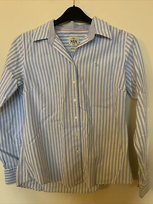 Crew Clothing Classic Fit Womens Shirt Size 10 Blue/white • 3.50£