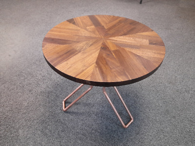 £260 • Buy Coffe Table Walnut Solidwood With Recycled Copper Pipe Legs