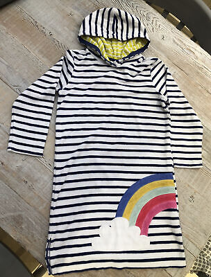 Mini Boden Cover-up Toweling Beach Dress - Striped With Rainbow -Age 9-10 Years • 11£