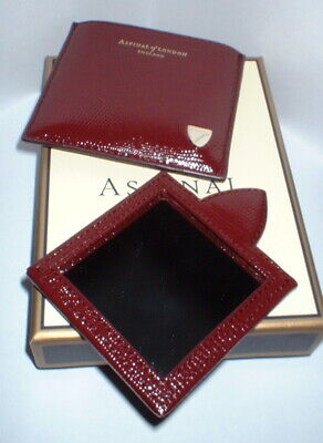 Aspinal Of London Bordeaux Lizard Leather Handbag Mirror & Case New With Box  • 39£