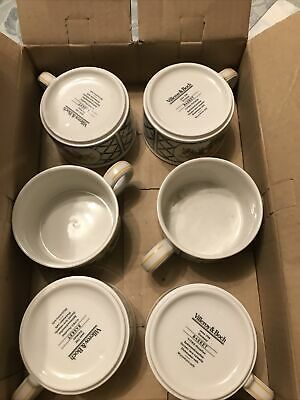 Villeroy & And Boch BASKET 6 X Tea Cups And Saucers  Brand New Cups In Original • 99£