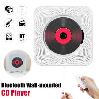 CD Player FM Radio Wall Mounted Bluetooth Music MP3 Remote Control Stereo • 45£