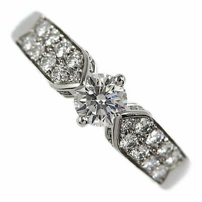 AU2554 • Buy Chaumet Pave Diamond Ring Engagement Ring / Pt950-6.1g / 0.33ct / GIA / 8 / ...