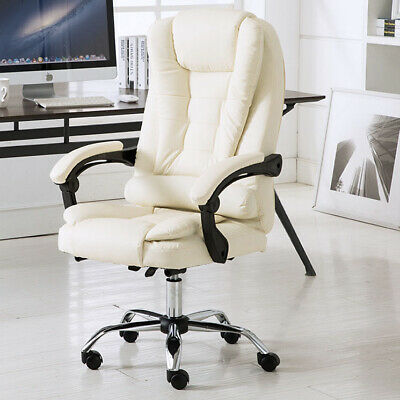 AU253.87 • Buy Apex Executive Reclining Office Chair (White /Cream)